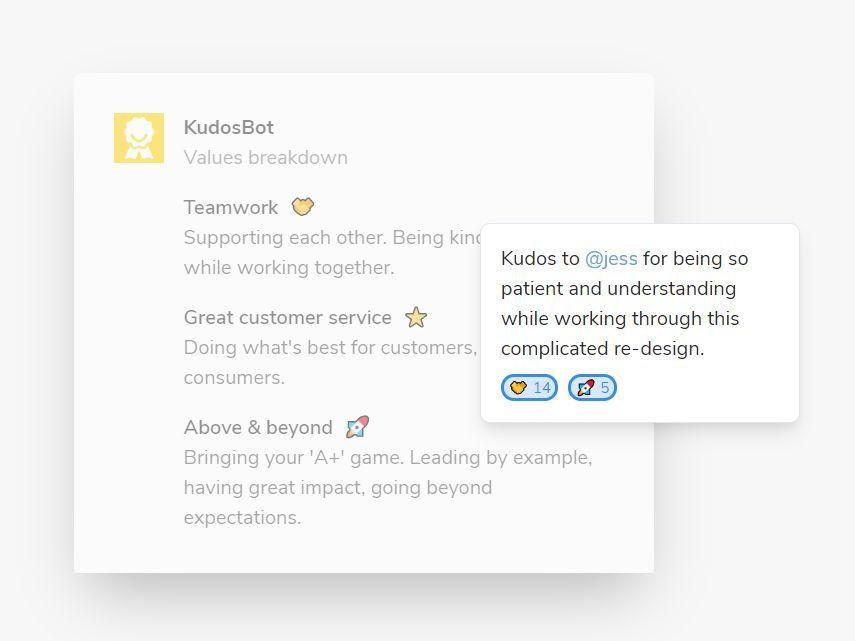 KudosBot Recognize Employees