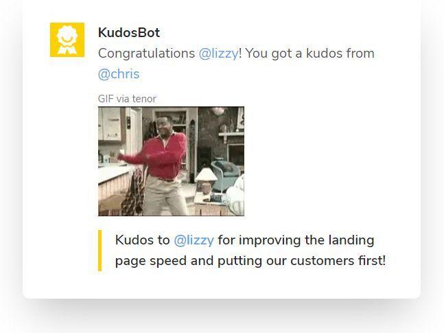 KudosBot Screenshot