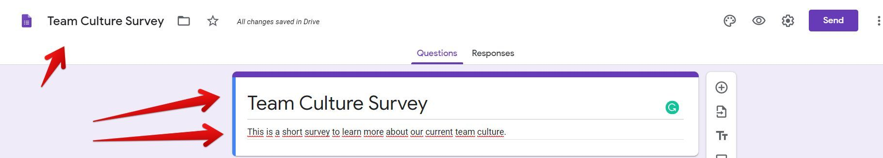 Team culture form